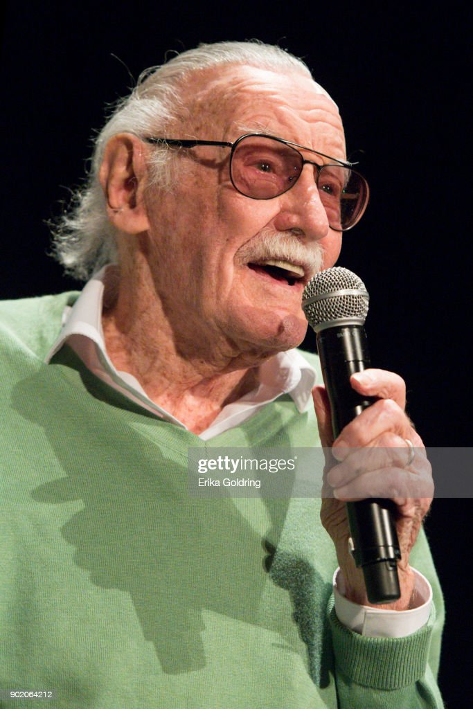 Stan Lee participates in a Q&A during Wizard World Comic Con at Ernest N. Morial Convention Center on January 6, 2018 in New Orleans, Louisiana.