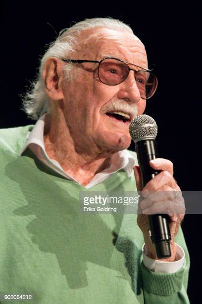 Stan Lee participates in a QA during Wizard World Comic Con at Ernest N Morial Convention Center on January 6 2018 in New Orleans Louisiana