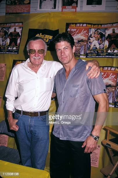 Stan Lee Paul Logan during Stan Lee In Store at Golden Apple at Golden Apple in Los Angeles California United States