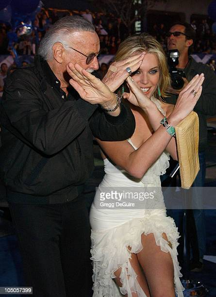 Stan Lee Rebecca RomijnStamos during X2 XMen United Premiere Los Angeles Arrivals at Grauman's Chinese Theatre in Hollywood California United States