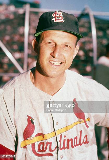 Stan Musial first baseman outfielder and batter for the St Louis Cardinals poses for the camera