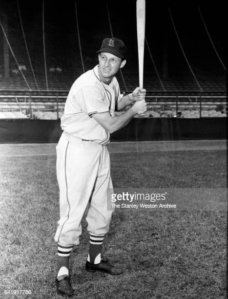 Stan Musial of the St Louis Cardinals poses for a portrait circa 1950
