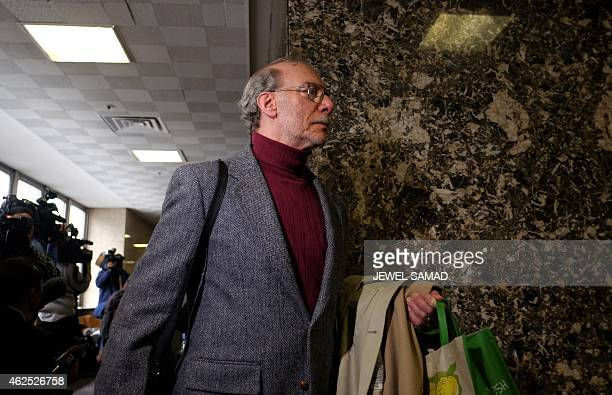 Stan Patz father of Etan Patz leaves a court in New York on January 30 2015 after attending a trial of a man accused of kidnapping and killing...