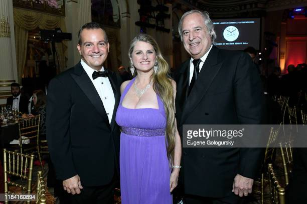 Stan Ponte, Bonnie Comley and Stewart F. Lane attend the The 36th Annual Drama League Benefit Gala at The Plaza Hotel on October 28, 2019 in New York...