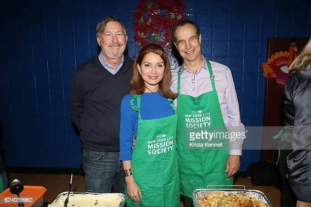 Stan Rumbough Jean Shafiroff and Jay Moorhead attend the Jean Shafiroff Jay Moorhead Underwrite Annual Community Thanksgiving Dinner at NYC Mission...