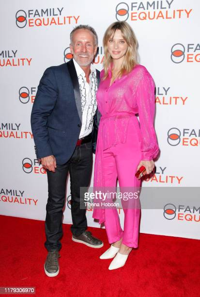 Stan Sloan and April Bowlby attend the Family Equality Los Angeles Impact Awards 2019 at a Private Residence on October 05 2019 in Los Angeles...