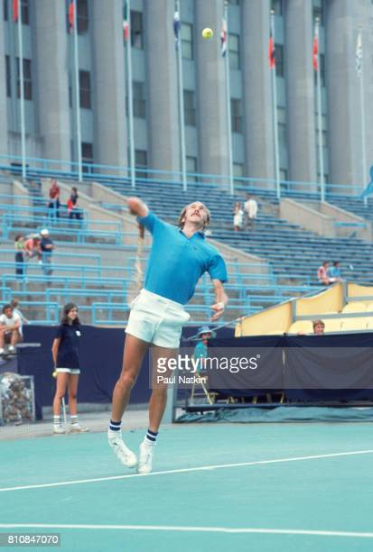 Stan Smith at a tennis tournament at Soldier Field in Chicago Illinois, 1976.