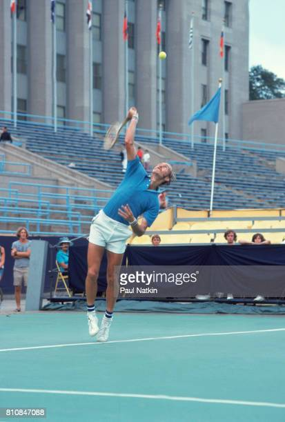 Stan Smith at a tennis tournament at Soldier Field in Chicago Illinois 1976