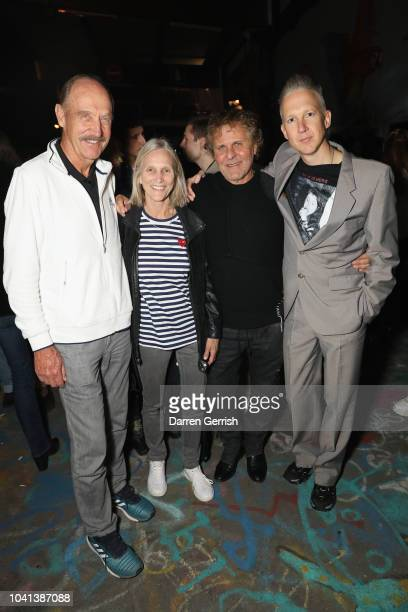 Stan Smith Marjory Gengler Renzo Rosso and Jefferson Hack attend the Dazed Beauty and Maison Margiela Mutiny party during Paris Fashion Week on...