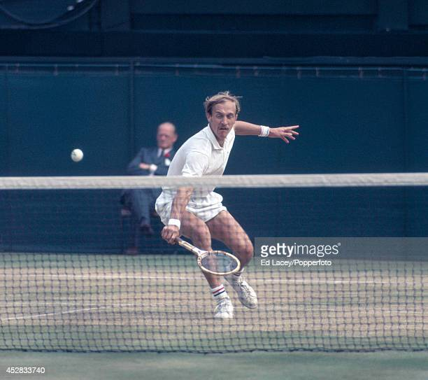 Stan Smith of the United States during the Men's Singles Final at Wimbledon on 3rd July 1971 Smith was defeated by John Newcombe of Australia in five...