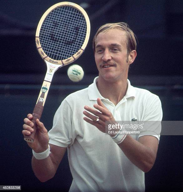 Stan Smith of the Untied States in action at Wimbledon circa July 1971 Smith lost the Men's Singles Final to John Newcombe of Australia in five sets