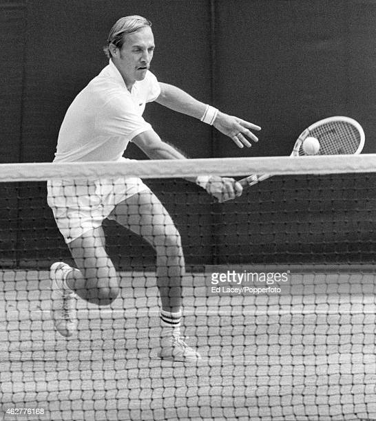 Stan Smith of the Untied States in action at Wimbledon circa July 1971 Smith lost in the Men's Singles Final to John Newcombe of Australia in five...