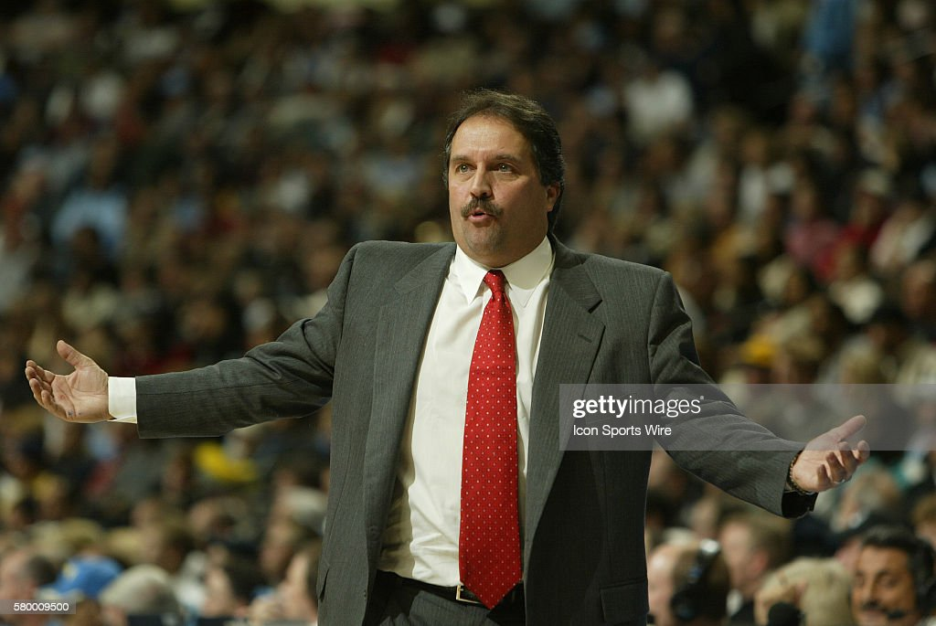 Stan Van Gundy head coach of the Miami Heat during the 104-95 loss to the Denver Nuggets at the Pepsi Center in Denver, Colorado.