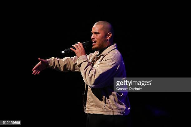 Stan Walker performs during Change The Game A Thankyou Gala on February 26 2016 in Melbourne Australia