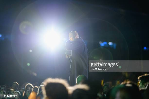 Stan Walker performs during the You Are Us/Aroha Nui Concert at Christchurch Stadium on April 17 2019 in Christchurch New Zealand The fundraising...