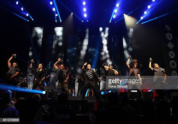 Stan Walker performs on stage during the New Zealand Music Awards at Vector Arena on November 21 2013 in Auckland New Zealand