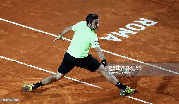 Stan Wawrinka of Switzerland in action against Benoit Paire of France during day three of The Internazionali BNL d'Italia 2016 on May 10 2016 in Rome...