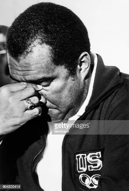 Stan Wright, U.S. Assistant track coach, during a press conference said he made the mistake that led to U.S. Sprinters, Ray Robinson and Eddie Hart...