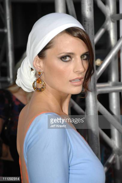 Stana Katic arrives at the Feast of Love premiere at The Academy of Motion Picture Arts and Sciences on September 25 2007 in Los Angeles California