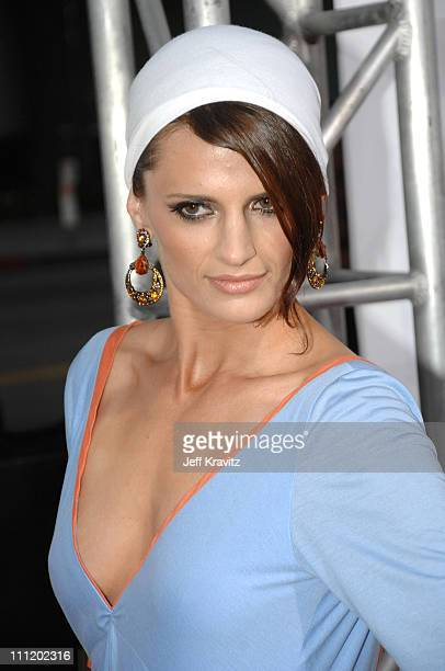 Stana Katic arrives at the 'Feast of Love' premiere at The Academy of Motion Picture Arts and Sciences on September 25 2007 in Los Angeles California