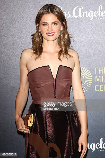 Stana Katic arrives at The Music Center's 50th Anniversary Spectacular held at Dorothy Chandler Pavilion on December 6 2014 in Los Angeles California