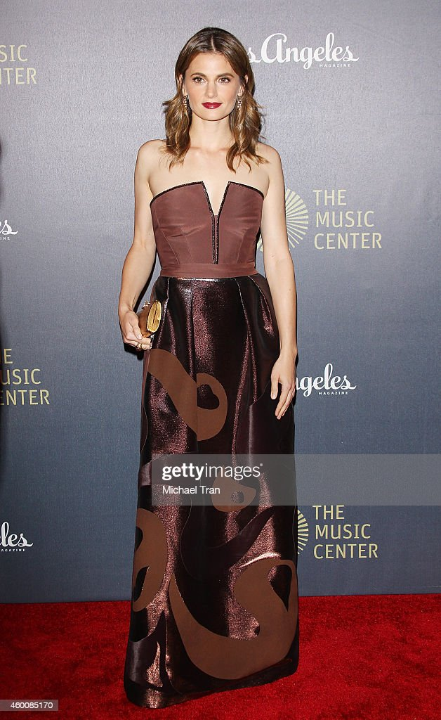Stana Katic arrives at The Music Center's 50th Anniversary Spectacular held at Dorothy Chandler Pavilion on December 6, 2014 in Los Angeles, California.