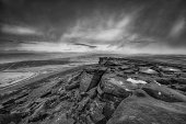 Stanage Edge black and white