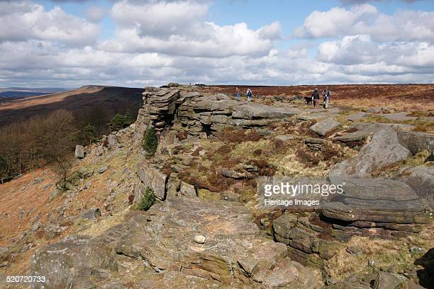 Stanage Edge Derbyshire 2009 Stanage Edge is a gritstone outcrop in the Peak District The area is popular with walkers and rock climbers