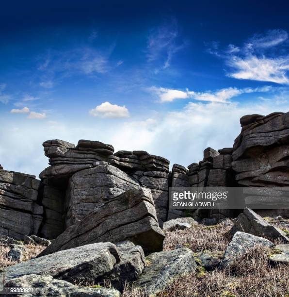 stanage edge - steep stock pictures, royalty-free photos & images