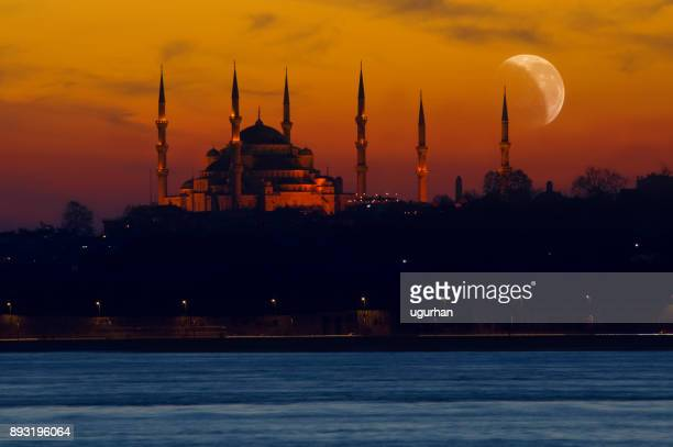i̇stanbul nights - hagia sophia stock pictures, royalty-free photos & images