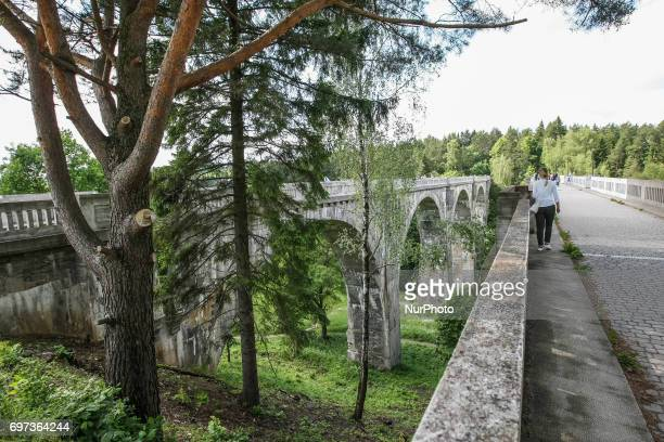Stanczyki bridges are seen on 17 June 2017 in Stanczyki Poland Bridges in Stanczyki are one of the highest bridges in Poland with over 36 m height...