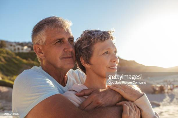stand back and appreciate life's gifts - contemplation couple stock pictures, royalty-free photos & images