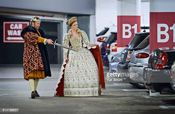 stand back m'lady, i'll deal with these creatures! - king royal person stock pictures, royalty-free photos & images