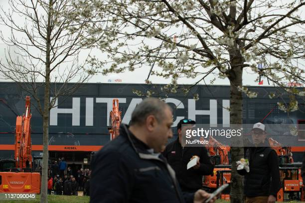 Stand of Hitachi. The Bauma is the most important construction fair in the world and the biggest fair in general. It takes place from 8.4.2019 -...