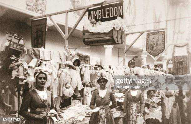 Stand of the Wimbledon branch of the Women's Social and Political Union London 1911 The stand of the Wimbledon branch of the WSPU at the Christmas...