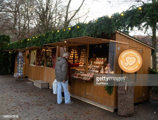 Stand The Christmas Market at the Chinesischer Turm in the Englischer Garten is opened until the 24th of December