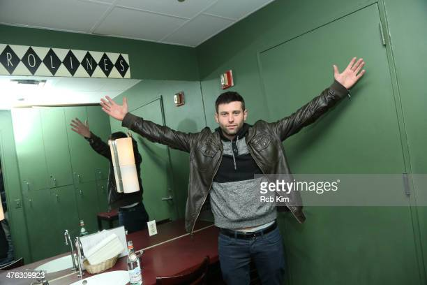 Stand up comedian Brent Morin backstage in green room at The Undateable Tour opening night at Caroline's On Broadway on March 2 2014 in New York City