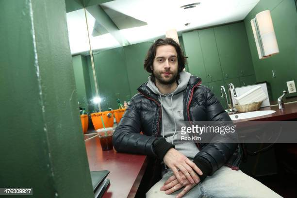 Stand up comedian Chris D'Elia backstage in green room at The Undateable Tour opening night at Caroline's On Broadway on March 2 2014 in New York City
