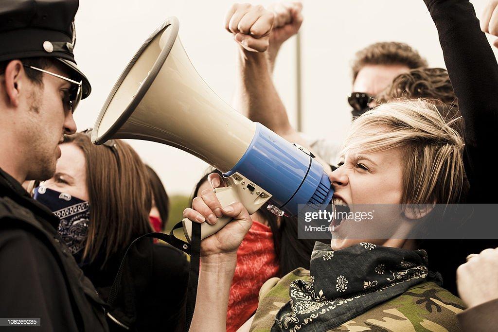 Defenda os seus direitos : Foto de stock