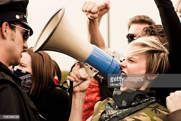 stand up for your rights - protestor stock pictures, royalty-free photos & images
