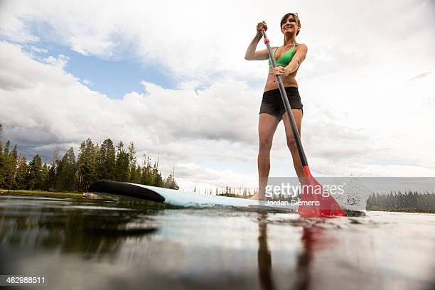 Stand up paddle boarding.