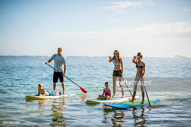 SUP - Stand up paddleboarding family