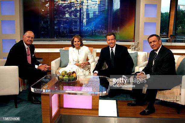 TODAY Stand Up to Cancer Air Date Pictured On the set of CBS News Early Show CBS's Harry Smith speaks with CBS's Katie Couric NBC's Brian Williams...