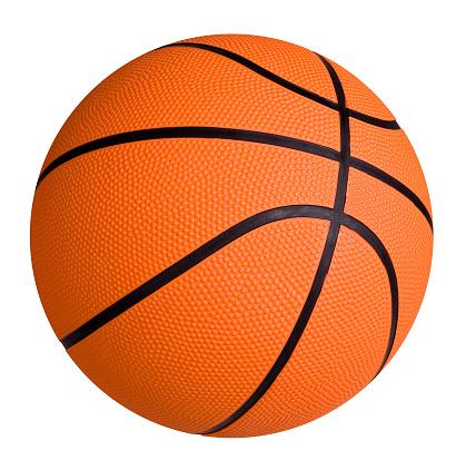 Standard basketball on white surface 172147072