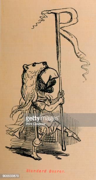 Standard Bearer', 1852. From The Comic History of Rome, by Gilbert A A'Beckett, illustrated by John Leech. [Bradbury, Agnew & Co, London, 1852]....