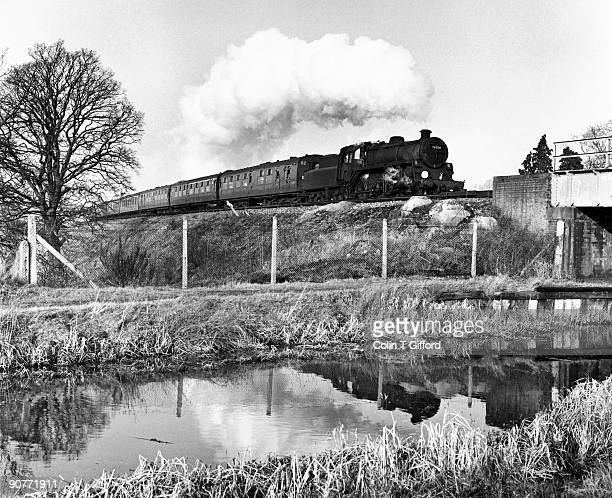 Standard class 4 2-6-0 No 76030 approaches Ash with a Reading-Redhill train. Photograph by Colin T Gifford.