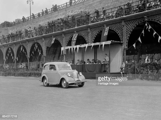 Standard Flying 8 of J Yates at the RAC Rally Madeira Drive Brighton 1939 Artist Bill Brunell Standard Flying Standard 8 1021 cc Vehicle Reg No EDU14...