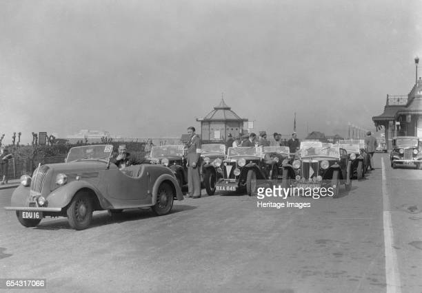 Standard Flying 8 of JB Murrell at the RAC Rally Madeira Drive Brighton 1939 Artist Bill Brunell Standard Flying Standard 8 1021 cc Reg No EDU16 No...