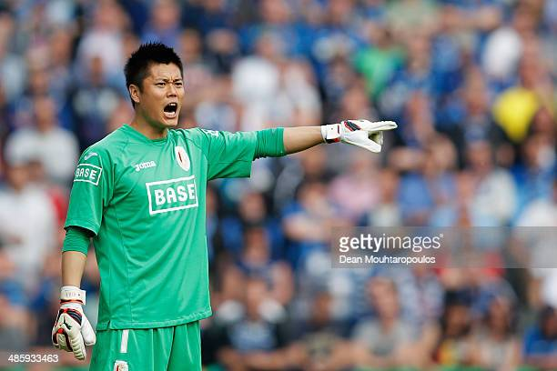Standard Liege Goalkeeper, Eiji Kawashima in action during the Jupiler League match between Club Brugge and Royal Standard de Liege at the Jan...