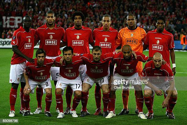 Standard Liege pose for a team group prior to the UEFA Cup first round second leg match between Standard Liege and Everton at Stade Maurice Dufrasne...